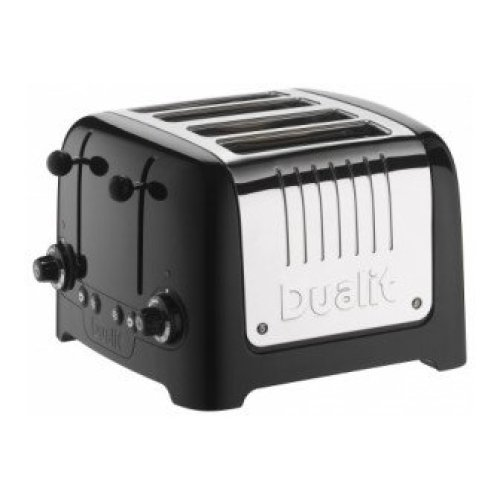 Dualit 4 Slice Lite Toaster in Black 46205