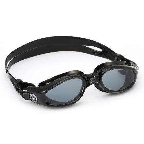 Aqua Sphere Unisex Adult Kaiman Men's and Women's Swimming Goggles, Black (Dark Lens), Regular
