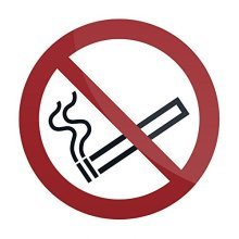 Fixman No Smoking Symbol Sign 100 x 100mm Self-adhesive - Smoking Symbol Sign x -  smoking symbol sign x 100mm fixman selfadhesive 769154 signage