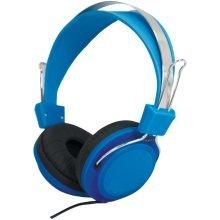 Street Style Coloured Digital Stereo Headphones - Colour Blue