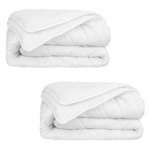 vidaXL 4 Seasons Duvet/Quilt 2 pcs 155x220 cm White