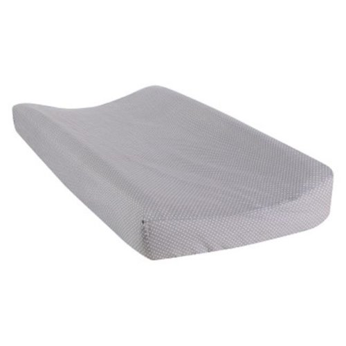 Trend Lab 101151 Safari Chevron Dot Changing Pad Cover, Gray & White