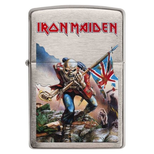 Iron Maiden Trooper Brushed Chrome Zippo Lighter