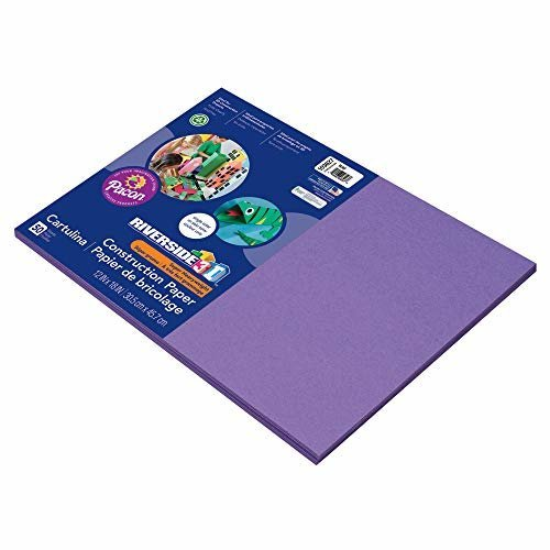 Pacon Construction Paper 12 Inches by 18 Inches 50 Count Violet 103627
