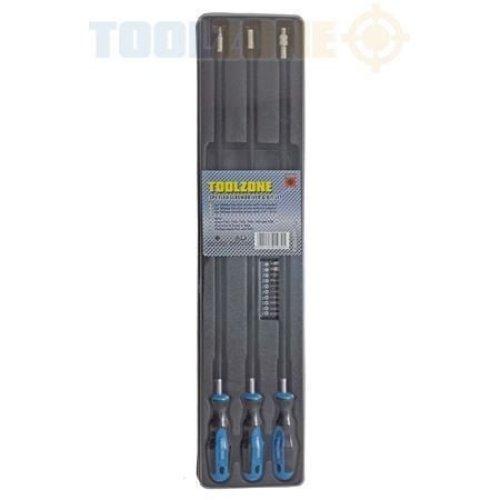 Toolzone 3Pc Flex Screwdriver & Bits Set SD094