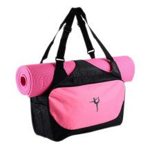 Outdoor Sport Bag Waterproof Training Yoga Bag Thicken Exercise Yoga Mat Bag-Pink