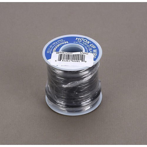 Miniatronics Corp 4812001 100 Feet Stranded Wire 22 Gauge Black