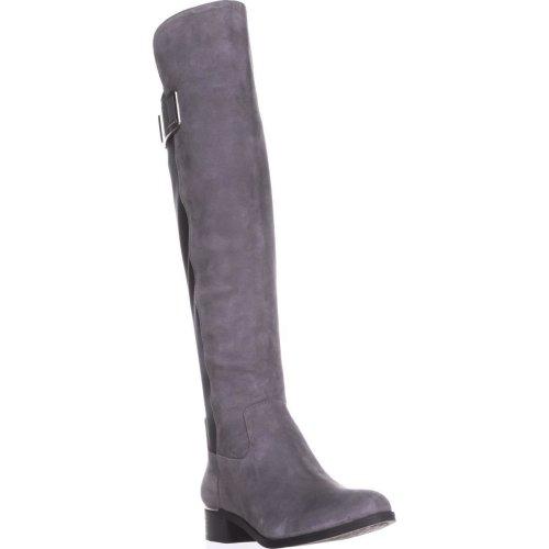 Calvin Klein Cyra Dress Back Stretch Riding Boots, Shadow Grey/Black, 4 UK