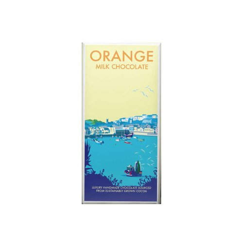 Kernow Orange Milk Chocolate bar 100g