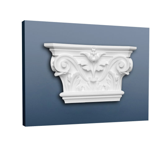 Orac Decor K201 LUXXUS Pilaster Capital Decoration element Stucco white
