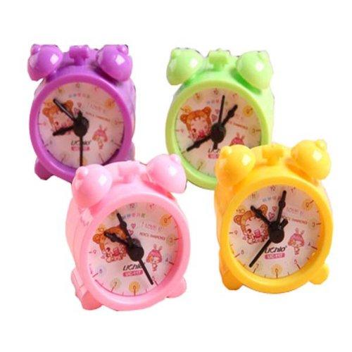 Set Of 4 Creative Pencil Sharpener Alarm Clock Modelling,Random Color