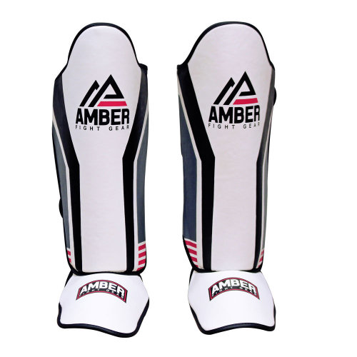 Gladiator Muay Thai Shin-n-StepForMuay Thai Kickboxing Protective Training Sparring Shin Guards Pair