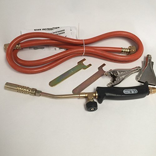 Gas Torch Burner 2m Hose Regulator Roofer Plumber Weed Kit Propane Butane