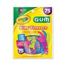 Sunstar 897RZ GUM Crayola Kids Flosser (Pack of 75)