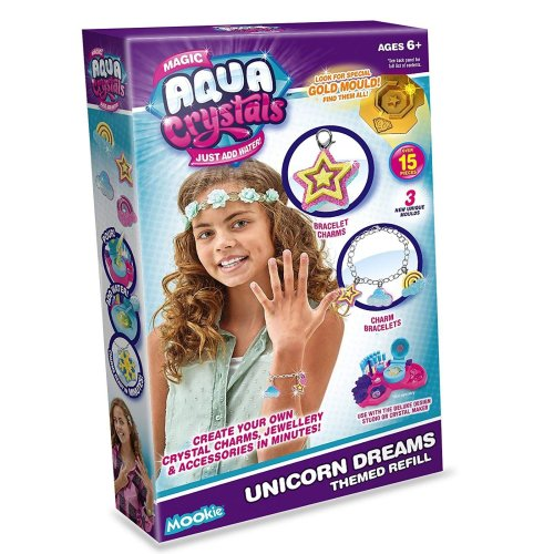 Aqua Crystals Crystal Unicorn Dream Accessories Refill Pack  Jewelry Maker