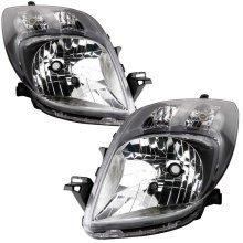 Toyota Yaris Mk2 11/2008-2011 Headlights Headlamps 1 Pair O/s & N/s