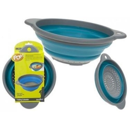 Summit Pop Up Colander Blue -  up camping colander blue summit pop bowls hanging loop