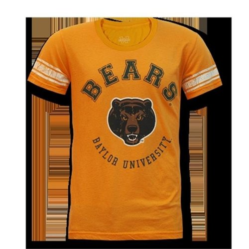 W Republic Mens Football Tee Baylor, Gold - Large