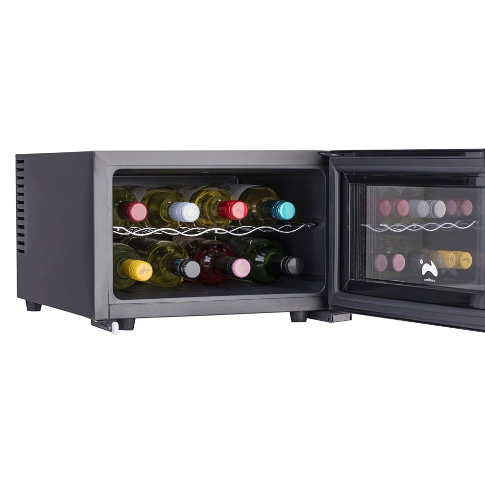 ovation black horizontal 8 bottle thermoelectric wine. Black Bedroom Furniture Sets. Home Design Ideas