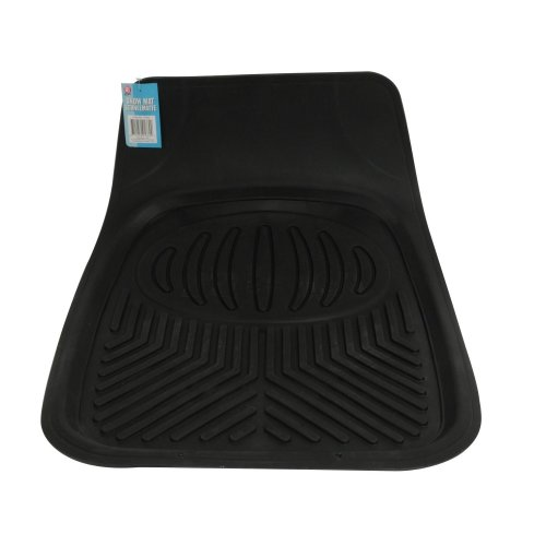 Car Snow Mat Black Rubber Mud Dirt Floor Protector 70X50Cm