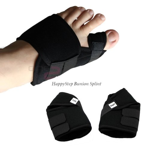 HappyStep Bunion Splint, Bunion Corrector for Crooked Toes Alignment & Big Toe Joint Pain Relief, Prevent Bunion Surgery, package for 2 (left foot...