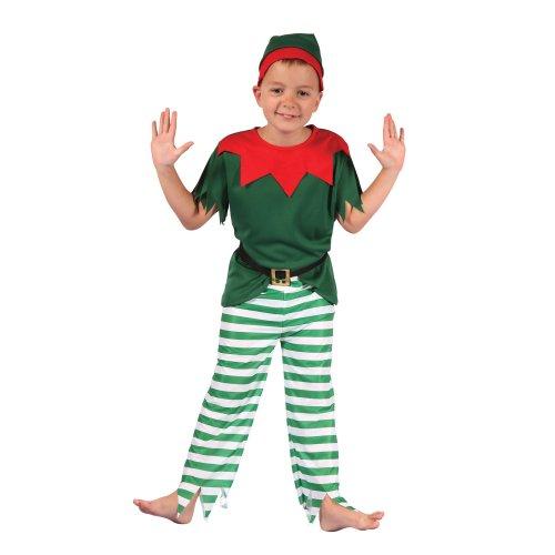 (Large) Kids Santa Boy Helper Elf Costume | Christmas