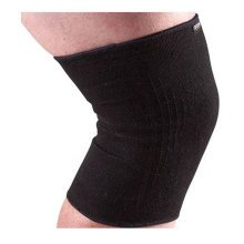 Premium Knee Support Sleeves Brace Pads for Sports Running Gym (Pair) - Black