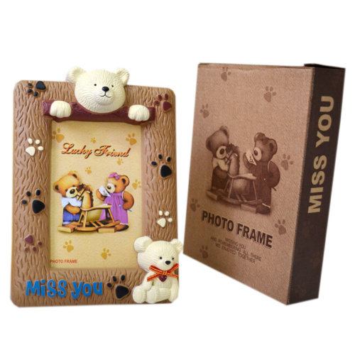 """Creative Lovely Cartoon Bear Table-top Picture/Photo Frames 6*4.5"""" Brown"""