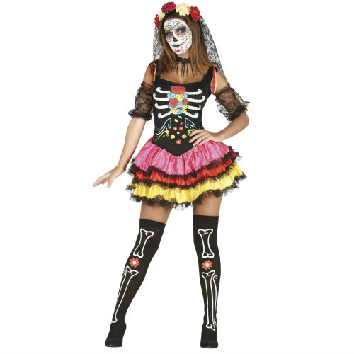 Day of the Dead Skeleton Catrina Costume   Halloween