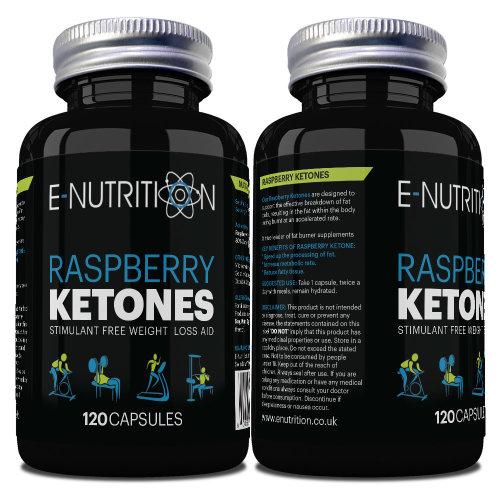 RASPBERRY KETONE - 120 CAPSULES 100mg - RASBERRY KEYTONE - E-NUTRITION