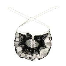 "Black Retro Style Handmade Cat Collars Lace Collars Dog Necklace 8.2-11.2"""