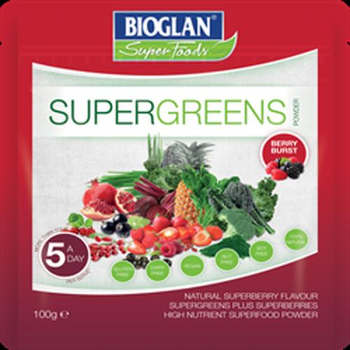 Bioglan Supergreens Berry Burst 100g