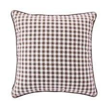 Square Throw Pillow Comfortable Soft Pillow Back Cushion Sofa Cushion, Coffee