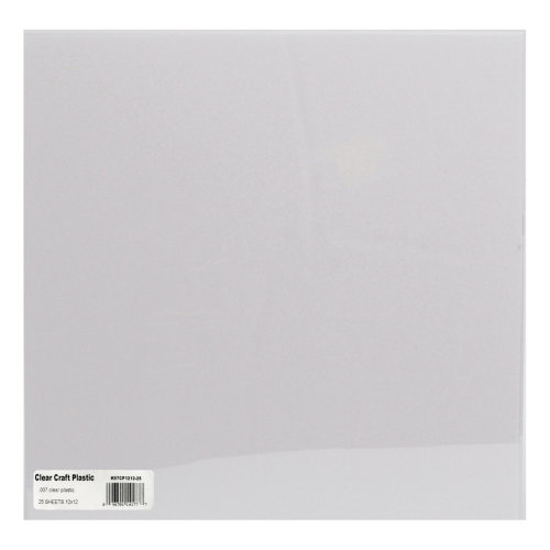"Grafix Craft Plastic Sheets 12""X12"" 25/Pkg-Clear .007"