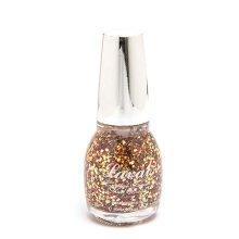 Laval Crystal Finish Nail Polish Sunset Glitter