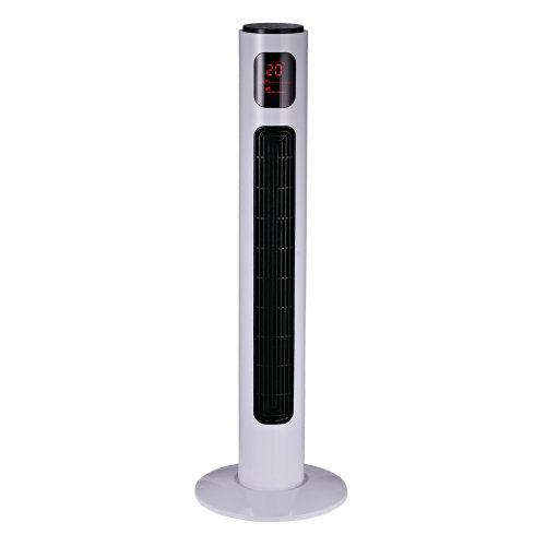 Homcom Oscillating Tower Fan 3 Speed Modes Cooling Machine w/ Remote Control - White