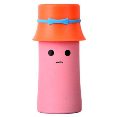 Cute Water Bottle Warm Cup Stainless Steel Bottle for Kids, 320Ml, Pink