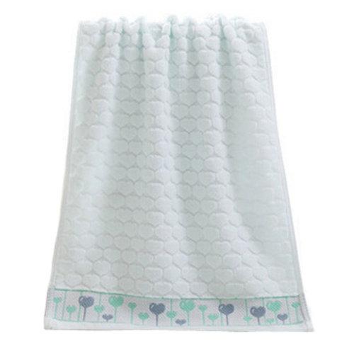 Heart Strong Absorbency Cotton Soft Facecloth Towel Bath Towel,Light Blue
