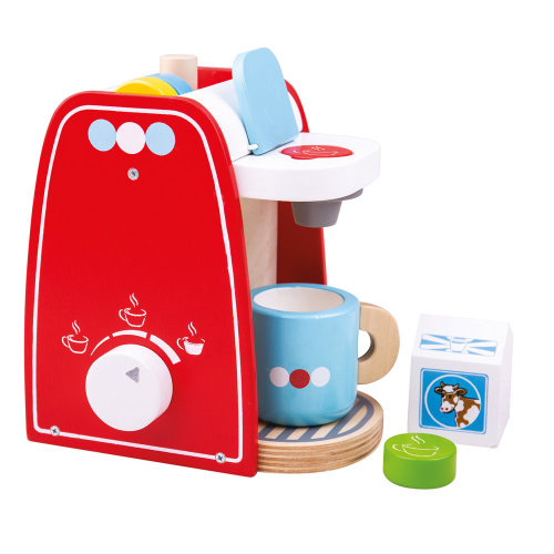 Bigjigs Toys Wooden Coffee Maker Machine - Pretend Role Play