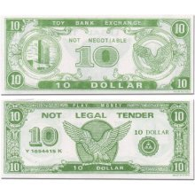 Paper Play Money (1000 $10 Bills Per Package)