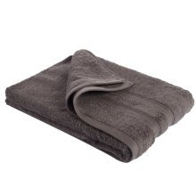 New Egyptian Cotton Soft High Quality Solid Color Washcloth Bath Towel Flannel, Dark Brown (34x75cm)