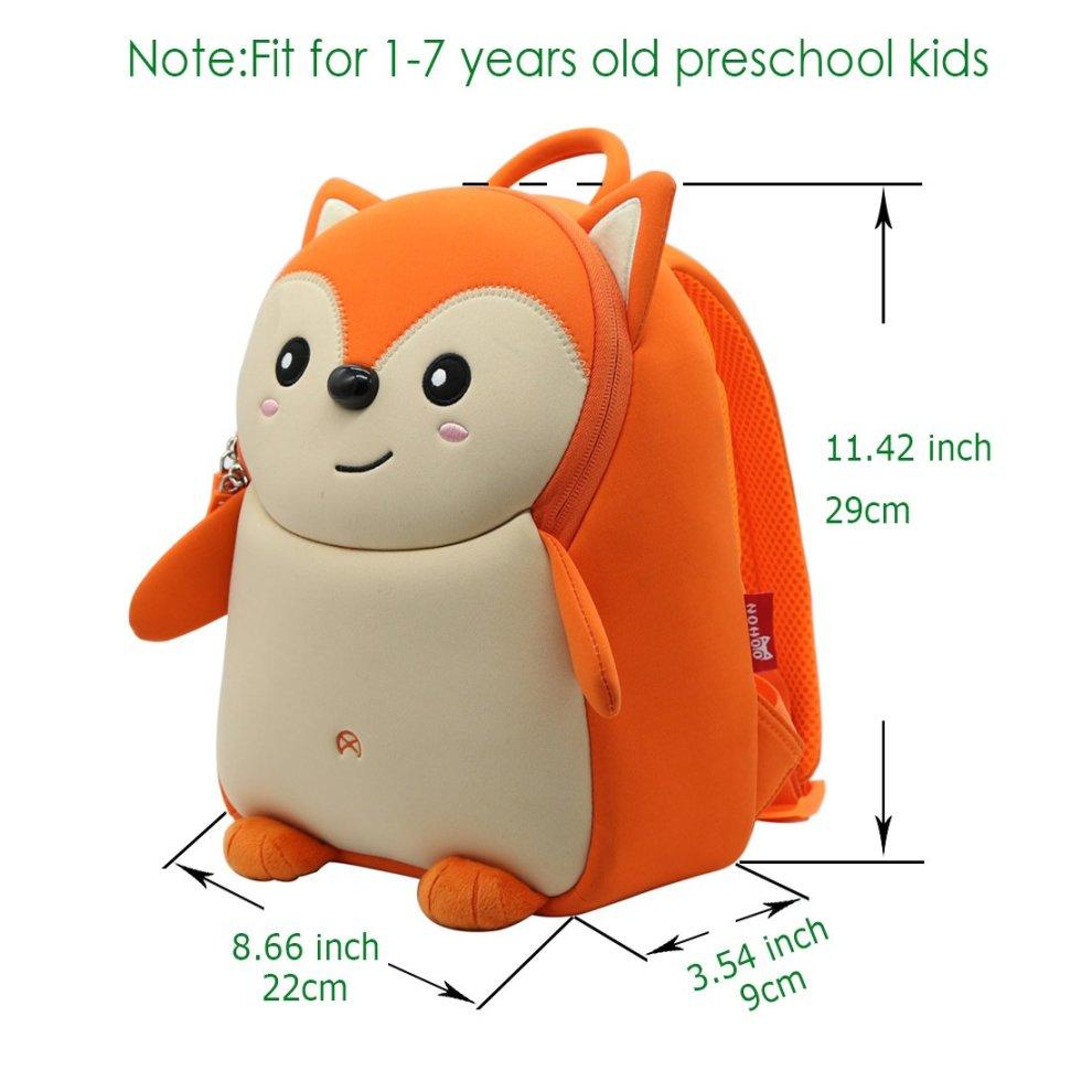 ... Alnaue Waterproof Kindergarten 3D Animal Preschool Kids Backpack Cute  Toddler School Bookbag for Boys Girls ... b80b6d6fde218