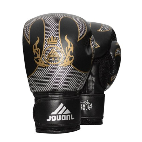 Comfortable Adult Boxing Gloves Training Gloves BLACK, 10 Ounce