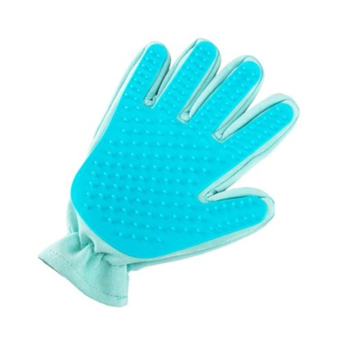 Pet Grooming Glove Gentle Massage Tool for Pets - Mint Green
