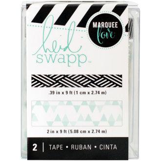 """Heidi Swapp Lightbox Tapes .4""""X9' & 2""""X9'-Teal Print"""