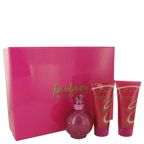 Fantasy by Britney Spears Gift Set -- 3.3 oz Eau De Parfum Spray + 3.3 oz Body Souffle + 3.3 oz Shower Gel