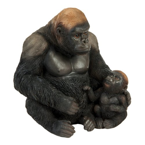 Naturecraft Silverback Gorilla and Baby Ornament