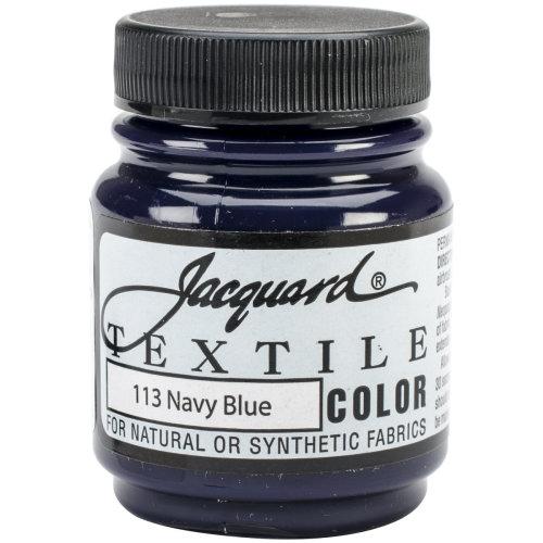 Jacquard Textile Color Fabric Paint 2.25oz-Navy Blue