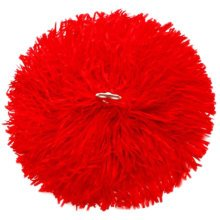 2 of Red Team Sports Cheerleading Poms Match Pom Plastic Ring