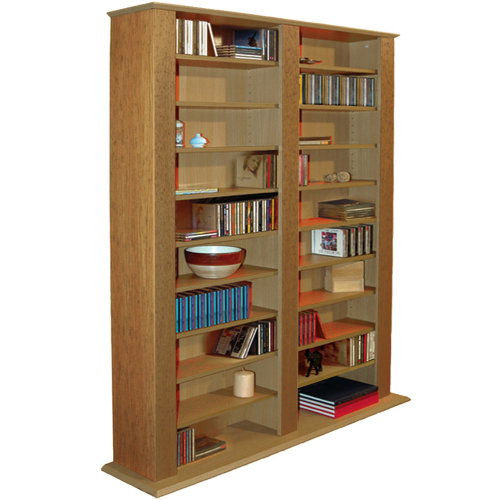 GENESIS - Multimedia 1060 CD / 420 DVD Blu-ray Storage Shelves - Oak